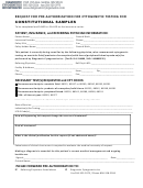 Request For Pre-authorization For Cytogenetic Testing For Constitutional Samples