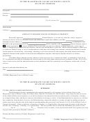 Affidavit For Foreclosure Of Personal Property Form - State Of Georgia