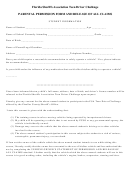 Parental Permission Form And Release Of All Claims