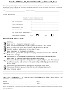 Declaration Of Documentary Transfer Tax Form