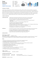 Office Administrator Sample Resume Template