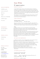 It Support Analyst Cv Template