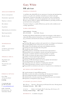 Hr Advisor Cv Template Sample