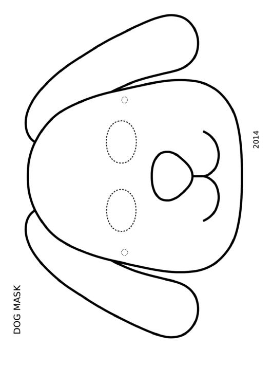 image relating to Dog Mask Printable named Pet dog Mask Coloring Template printable pdf obtain