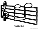 Treble Clef Music Coloring Sheet