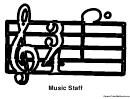Music Staff Music Coloring Sheet