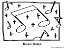 Music Notes Coloring Sheet