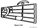 Bass Clef Music Coloring Sheet