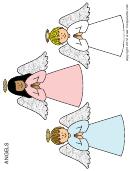 Angel Coloring Sheet Sample