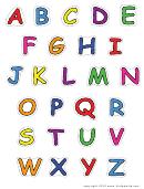 Alphabet-upper-color Template