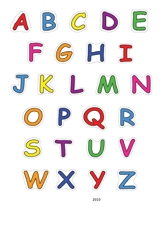 Alphabet-upper-color Template