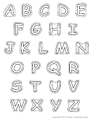 Alphabet-upper-bw Template