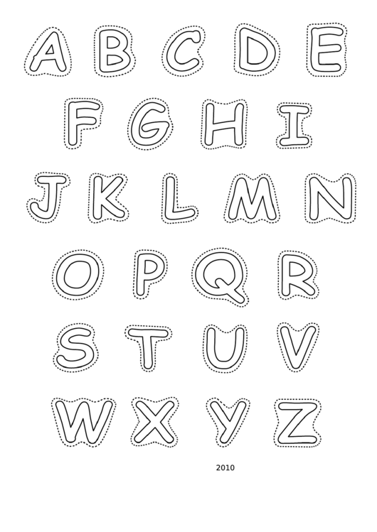 Alphabet-upper-bw Template