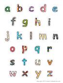 Alphabet-lower-pattern Template