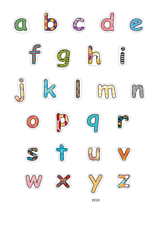 Alphabet-lower-pattern Template