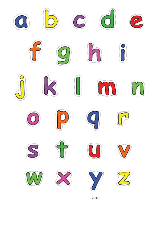 Alphabet-lower-color Template