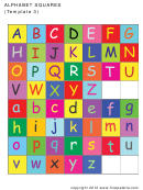 Alphabet Color Squares Template