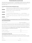 Rental Inspection Consent Form