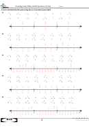 Creating Line Plots With Fractions (2,4,8) Worksheet