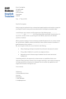 English Teacher Cover Letter Sample - Dayjob - 2013