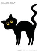 Halloween Cat Template