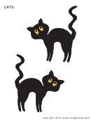 Black Cats Template