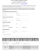 Daily Parking Request Form