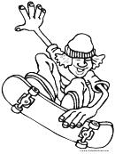 Skateboarding Boy Coloring Sheet