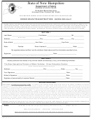 Form Dssp380 - New Hampshire Criminal History Record Information Authorization Form - Driver Education Instructions - State Of New Hampshire