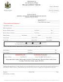 Form Mvd-382 - Renewal Application For Trailer Transit License
