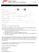 Form 1-609-292-6500 - Application Form For Collector Vehicle Status