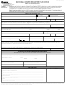Form Dl 55 - National Driver Register File Check - Employer Request