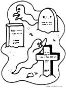 Tombstone Coloring Sheet