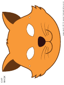Cat Mask Color Template
