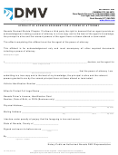 Form Vp-249 - Affidavit Of Acknowledgement For A Power Of Attorney