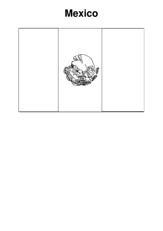 Mexico Flag - Coloring Sheet Printable Pdf Download