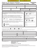 California Form 3555l - Request For Tax Clearance Certificate - 2004