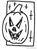 Pumpkin Coloring Sheet