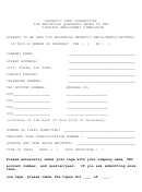 Magnetic Tape Transmittal Form - Virginia Employment Commission