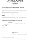 Assignment Of Registration Form - Secretary Of Form