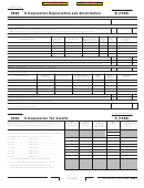 California Schedule B (100s) - S Corporation Depreciation And Amortization - 2006