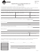 Form Inh-4 - Application For Determination Of Estate Tax
