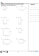 Finding Width, Height And Area Of Scale Rectangles Math Worksheet With Answer Key