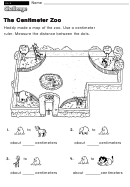 The Centimeter Zoo - Challenge Math Worksheet With Answer Key