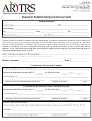 Form # 220 -request To Establish Reciprocal Service Credit