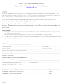 Alcohol Form #2 Request To Use Alcoholic Beverages On University Property