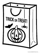 Trick Or Treat Bag Coloring Sheet