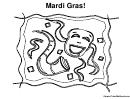 Coloring Sheet - Mardi Gras
