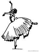 Coloring Sheet - Ballerina
