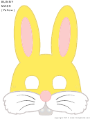 Bunny Mask Template